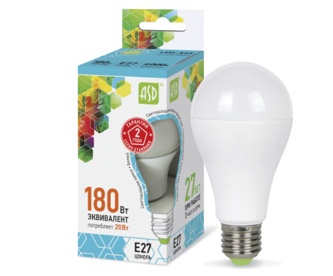 Лампа светодиодная LED-A60-standard 20Вт