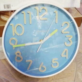 Часы настенные фосфорные 25х25см светятся в темноте